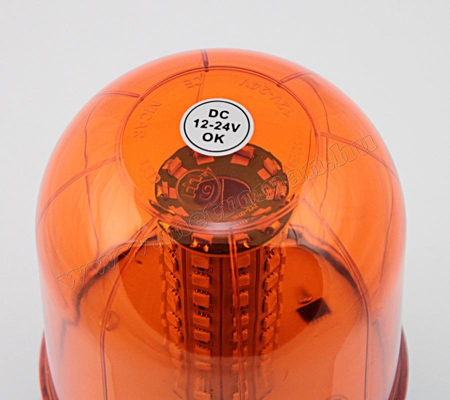 Megkülönböztető jelzés , villogó narancs 12/24V , 100 LED, MM-0688