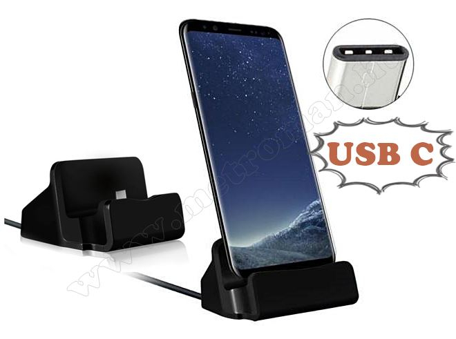 Asztali telefontöltő USB C fekete 0954-1