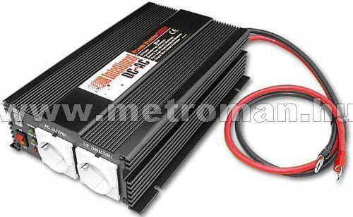 Feszültségátalakító , inverter  , 1200 W  SP-1200  12 / 230 Volt