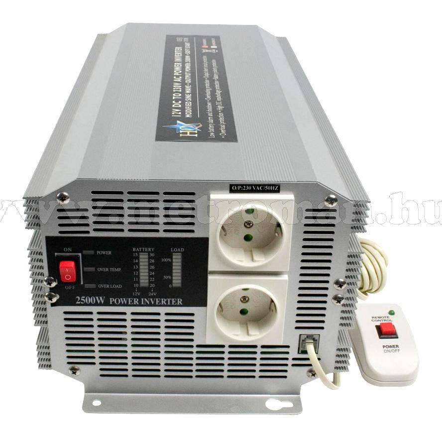 Feszültségátalakító , inverter  , 2500 W ,  HQ-INV2500/12 / 230 Volt