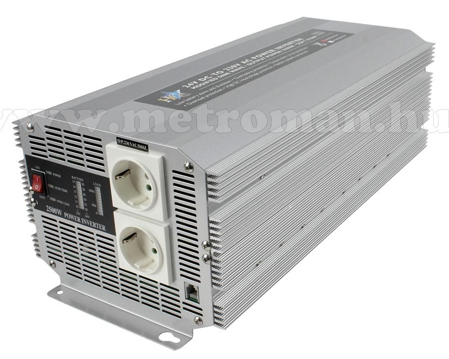 Feszültségátalakító , inverter  , 2500 W , HQ-INV2500/ 24 / 230 Volt