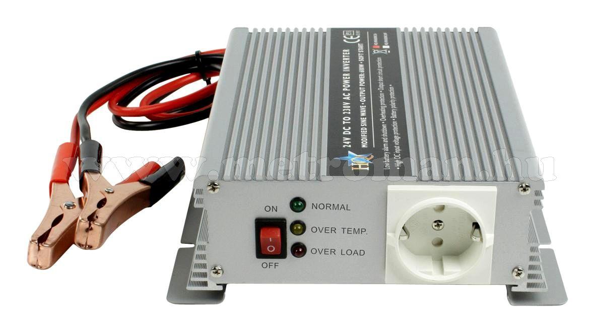 Feszültségátalakító , inverter  , 600 W  HQ-INV600W  ,  24 / 230 Volt