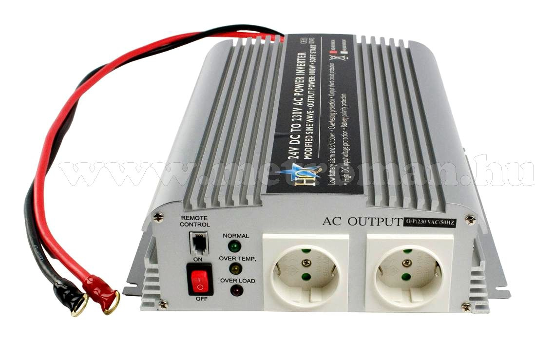 Feszültségátalakító , inverter  , 1000 W  HQ-INV1KW ,  24 / 230 Volt