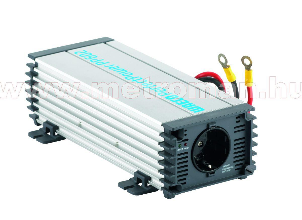 Feszültségátalakító , inverter  , 550 W , Waeco PP602  , 12/230 Volt