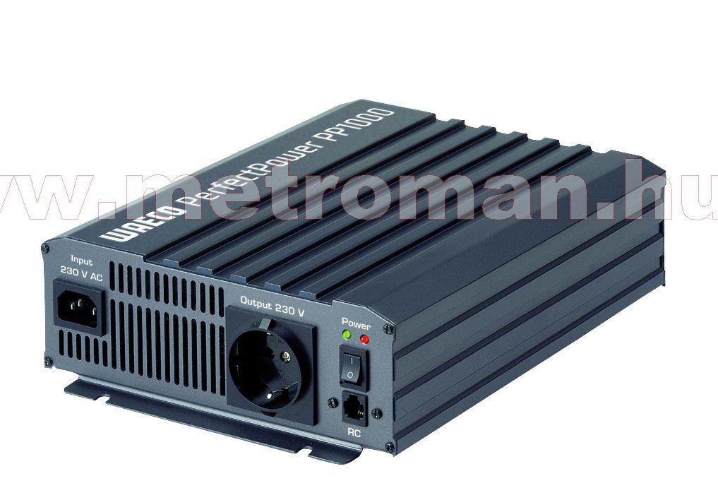 Feszültségátalakító , inverter  , 1000 W , Waeco PP1002  , 12/230 Volt