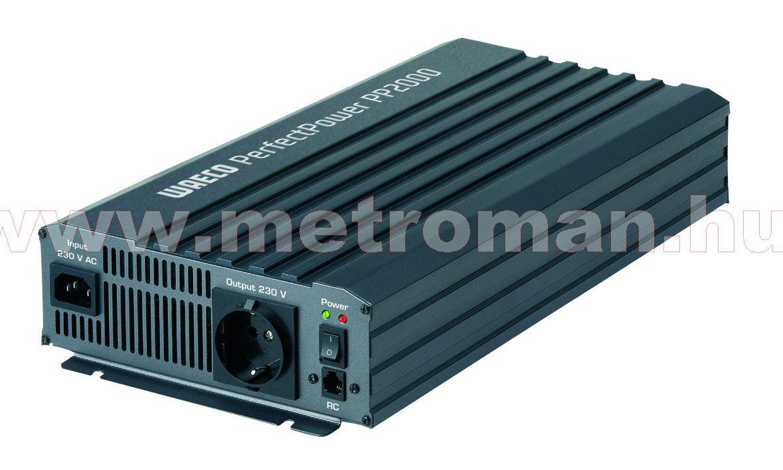 Feszültségátalakító , inverter  , 2000 W , Waeco PP2002  , 12/230 Volt