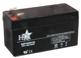 Zselés akkumulátor , 12 V - 1.3 Ah BAT-LEAD-02