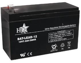 Zselés akkumulátor , 12 V - 7,2  Ah , BAT-LEAD-12