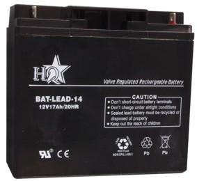 Zselés akkumulátor , 12 V - 17 Ah BAT-LEAD-14