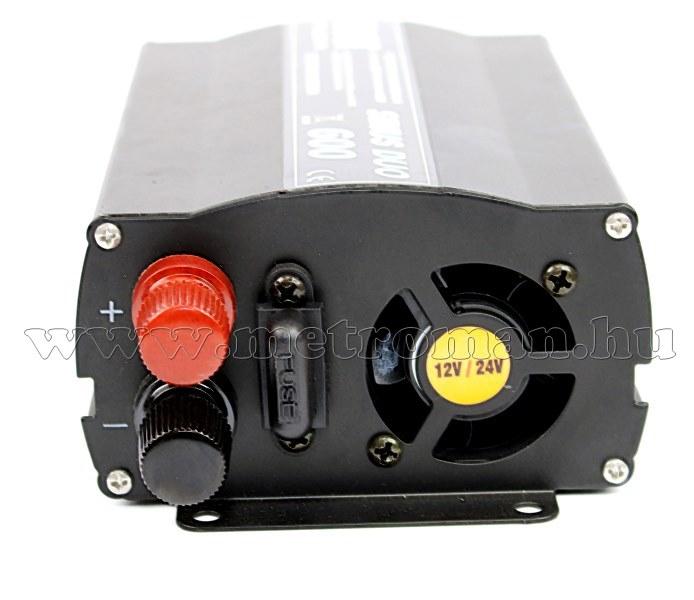 12-24V / 230 V feszültségátalakító, Szinusz inverter, Sinus Duo 600