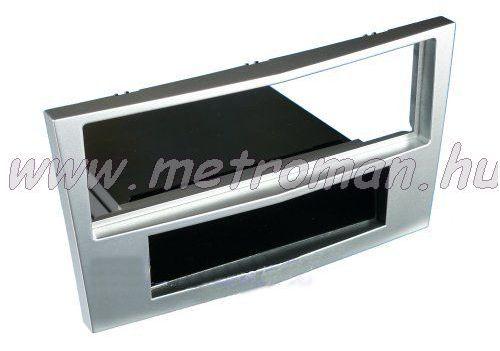 Autórádió beépítőkeret OPEL Astra H, világos ezüst