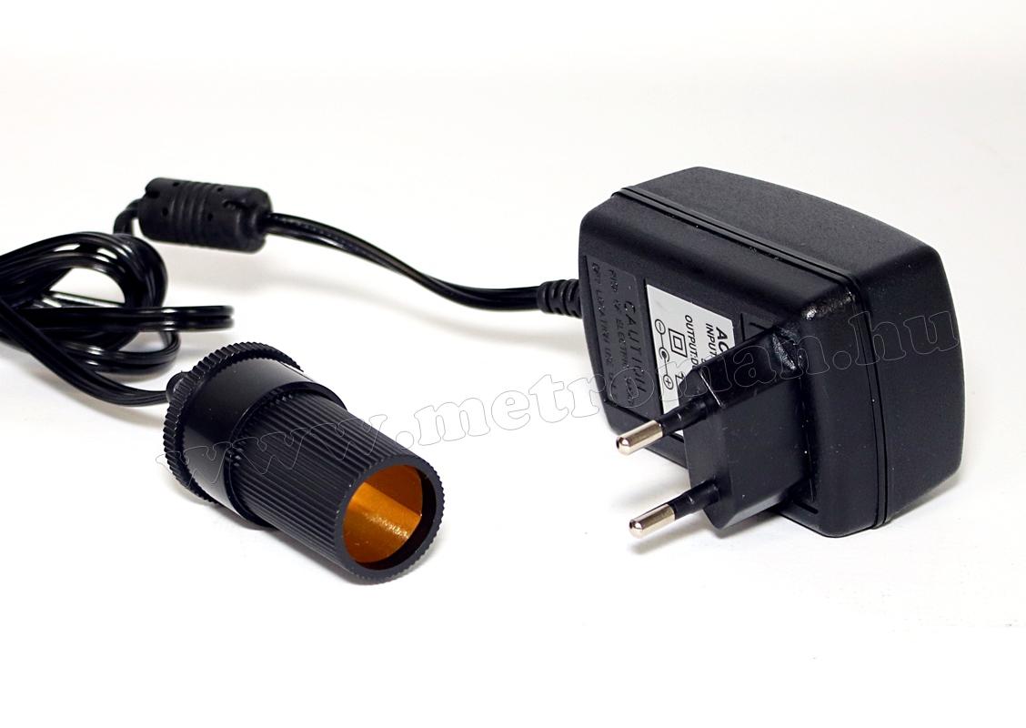 Tápegység, hálózati adapter szivargyújtó csatlakozóval 12V/2A MD4R/C