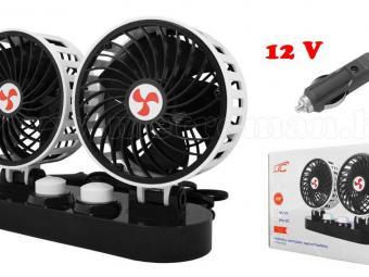 12V szivargyújtós autós ventilátor MWTS4-Dual-12V