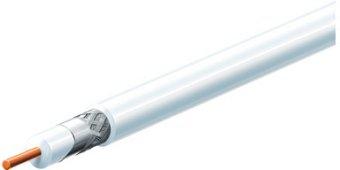 Koax kábel RG6  , fehér