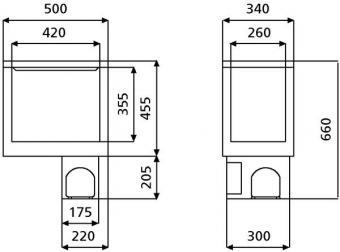 COOLMATIC CB-40 kompresszoros pultba építhető hűtő / mélyhűtő