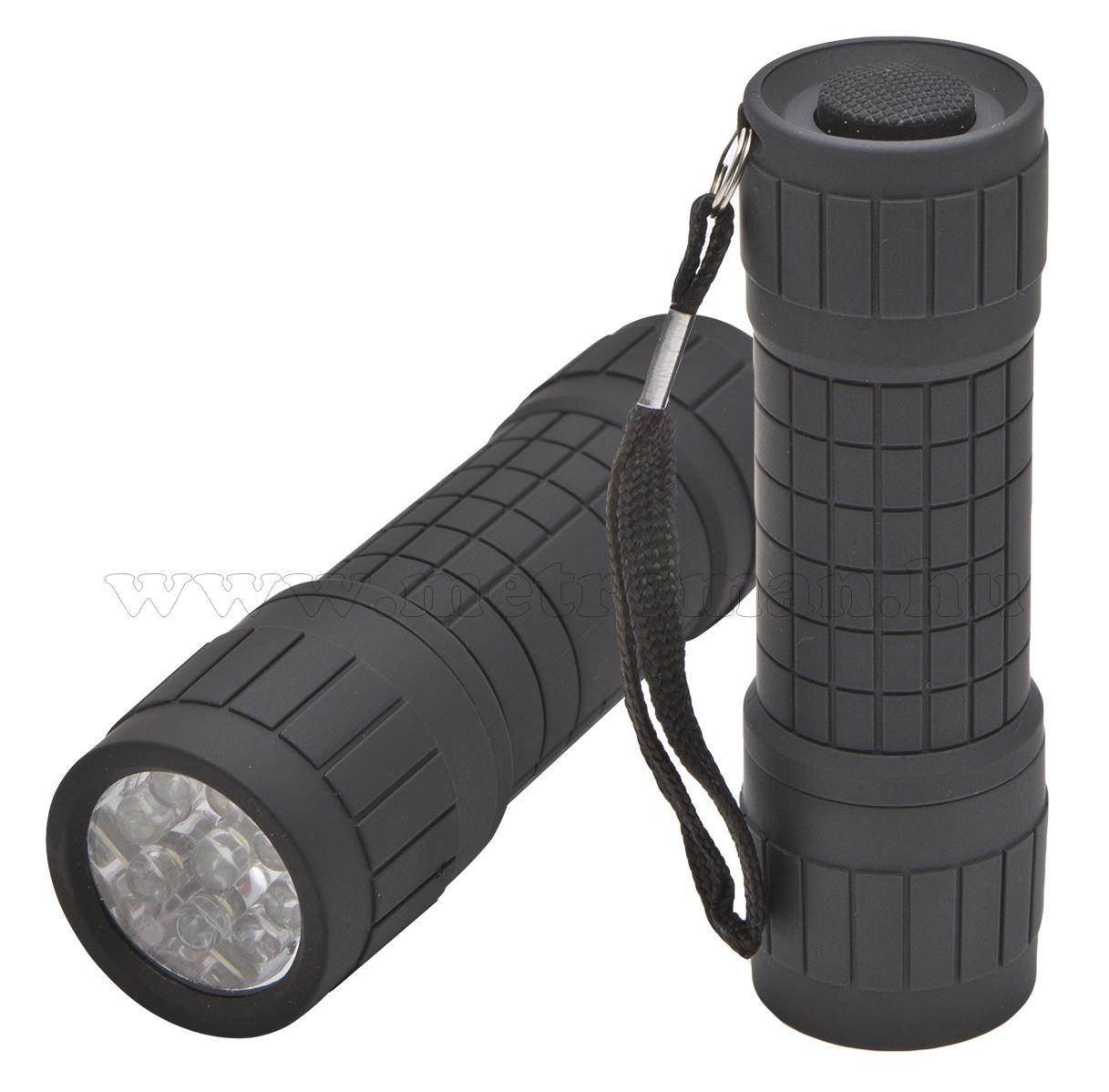 Kézi LED elemlámpa 9 LED-del 18605