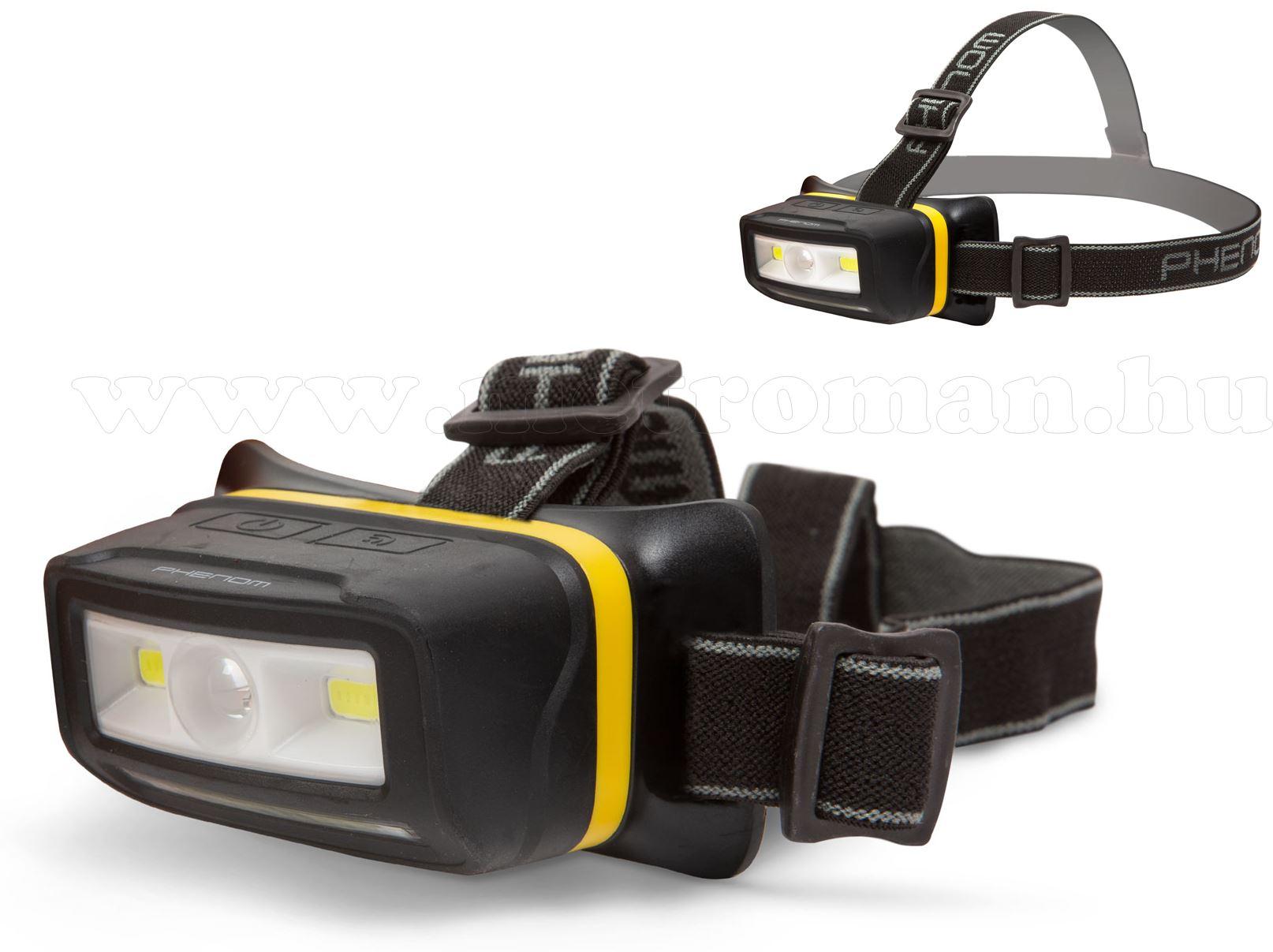 COB LED fejlámpa mozgásérzékelővel 18609
