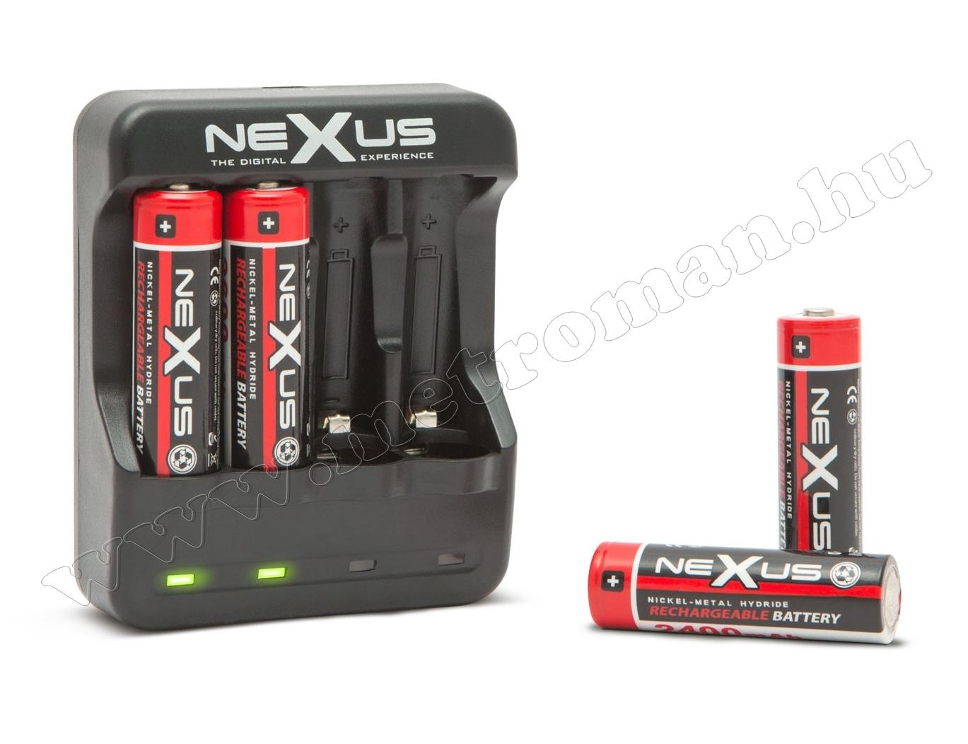 Akkumulátortöltő AA/AAA akkuhoz NEXUS 18940