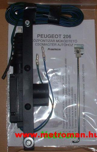 Peugeot 206 csomagtér nyitó