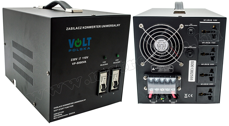 Feszültség átalakító konverter 230V/110V 5000W, KN5000 SoftStart
