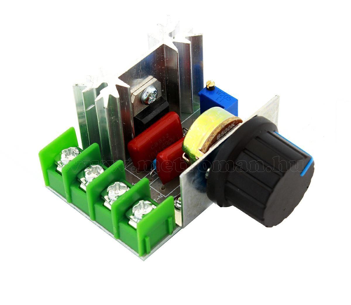 Teljesítményszabályzó, Fordulatszámszabályzó elektronika 230V 1500W MPC2000W