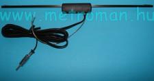 Autóantenna , belső , szélvédőre ragasztható , erősítővel ,Hirschmann, Hit Auta 60 EL