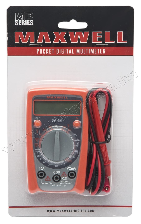 Digitális multiméter 25103