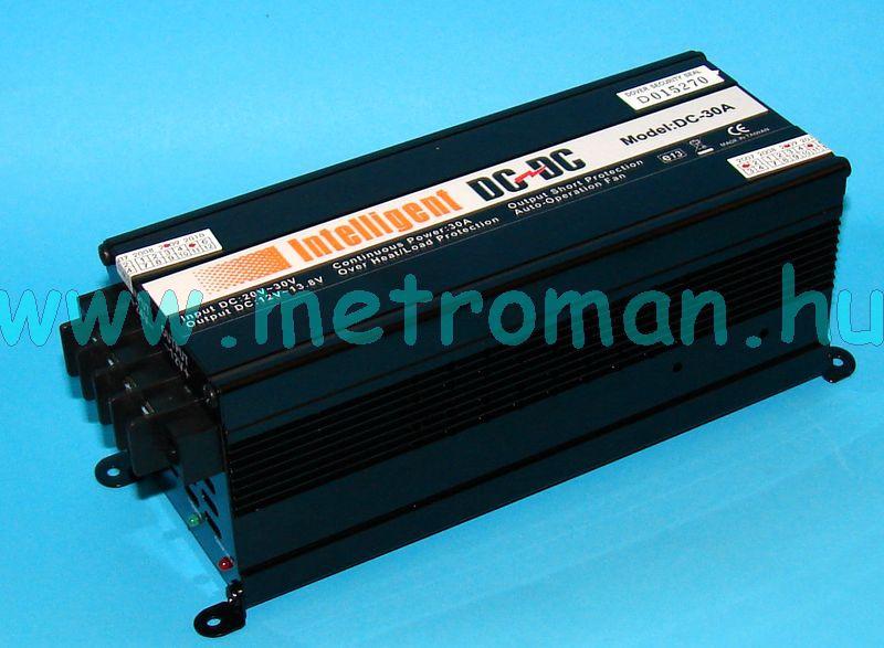 Feszültségátalakító , konverter DC-DC  24/12 Volt , 30 Amper