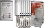 Komplett 6 lakásos kaputelefon szett, Golmar 4260/AL
