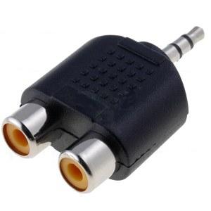 3,5 Jack dugó - 2 RCA átalakító csatlakozó