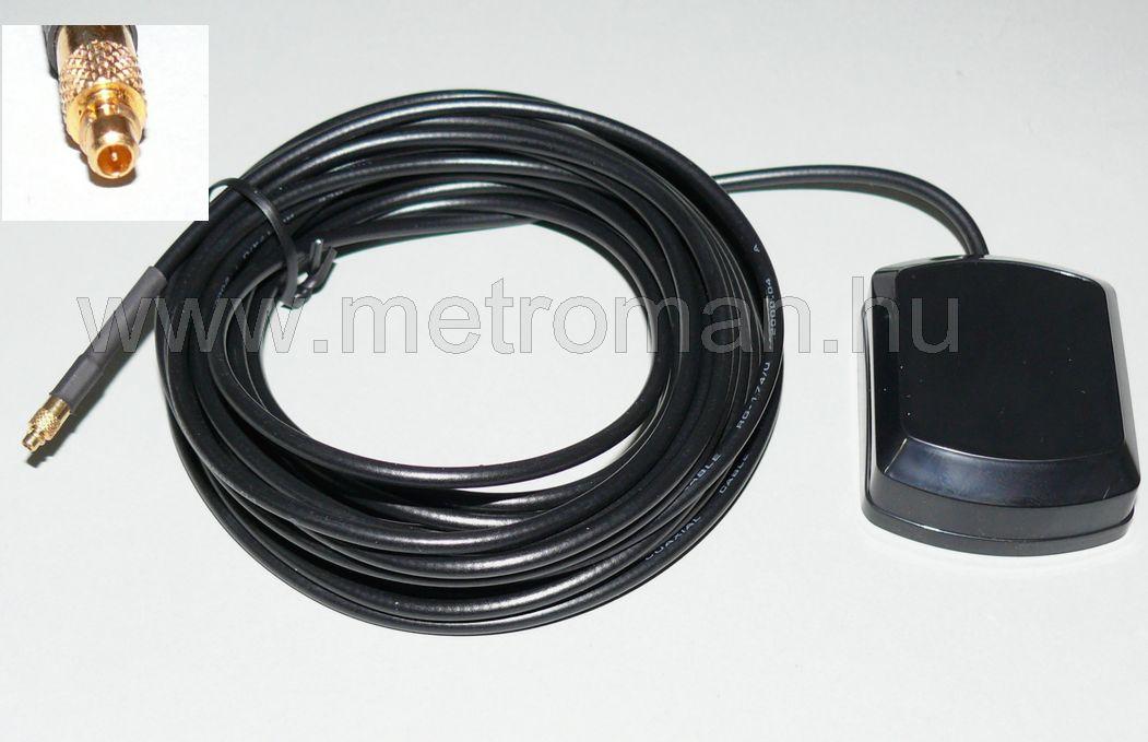GPS antenna, MMCX, mágneses, 5 méter vezetékkel