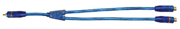 RCA elosztó kábel, aranyozott csatlakozókkal,  20197