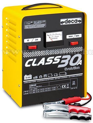 Nagyteljesítményű akkutöltő, gyorstöltő, 12-24 Volt 30 A, DECA CLASS 30A