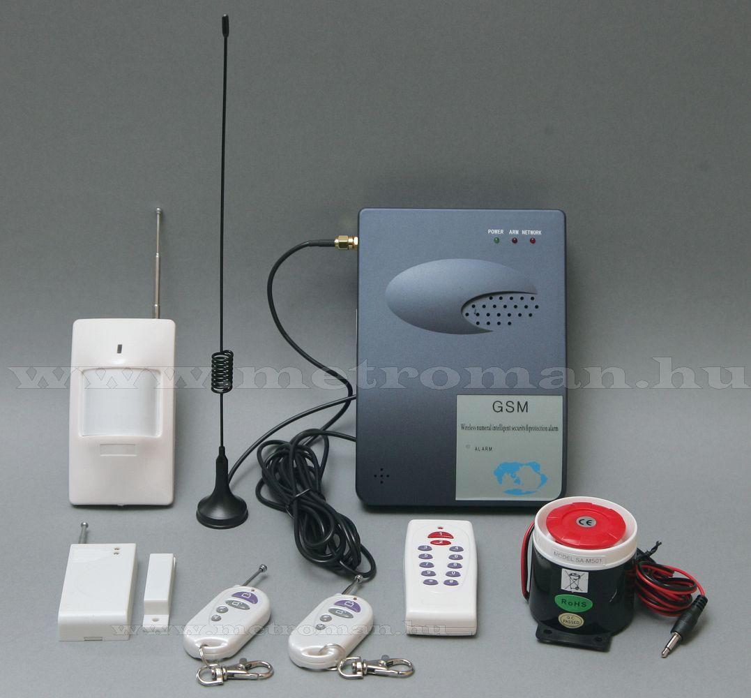 Vezeték nélküli riasztó szett, beépített GSM telefonhívóval SA-GSM