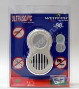 Elektromos ultrahangos egér, bolha, pók riasztó, Weitech WK 0180