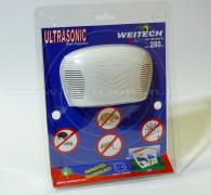 Elektromos ultrahangos patkány, egér, bolha, pók riasztó, Weitech WK 0300