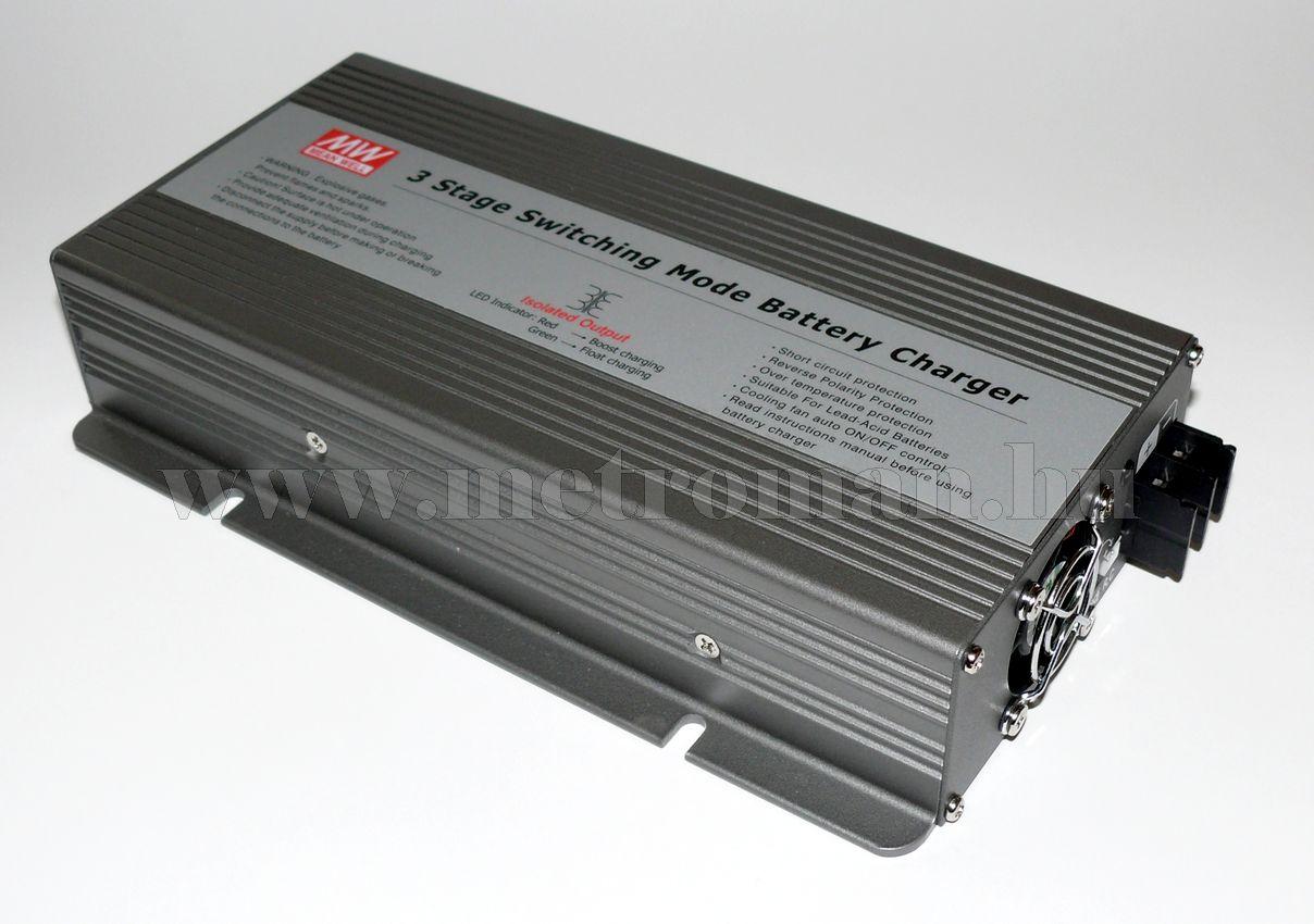 Professzionális nagyteljesítményű beépíthető akkutöltő, 12 V / 24 Amper, Mean Well PB-360P-12