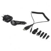 Univerzális USB töltőkészlet, autós és hálózati töltővel, HQ P.SUP.USB404