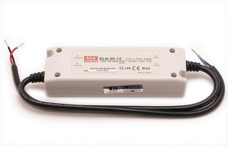 Tápegység LED világításhoz, MEAN WELL ELN-30-12