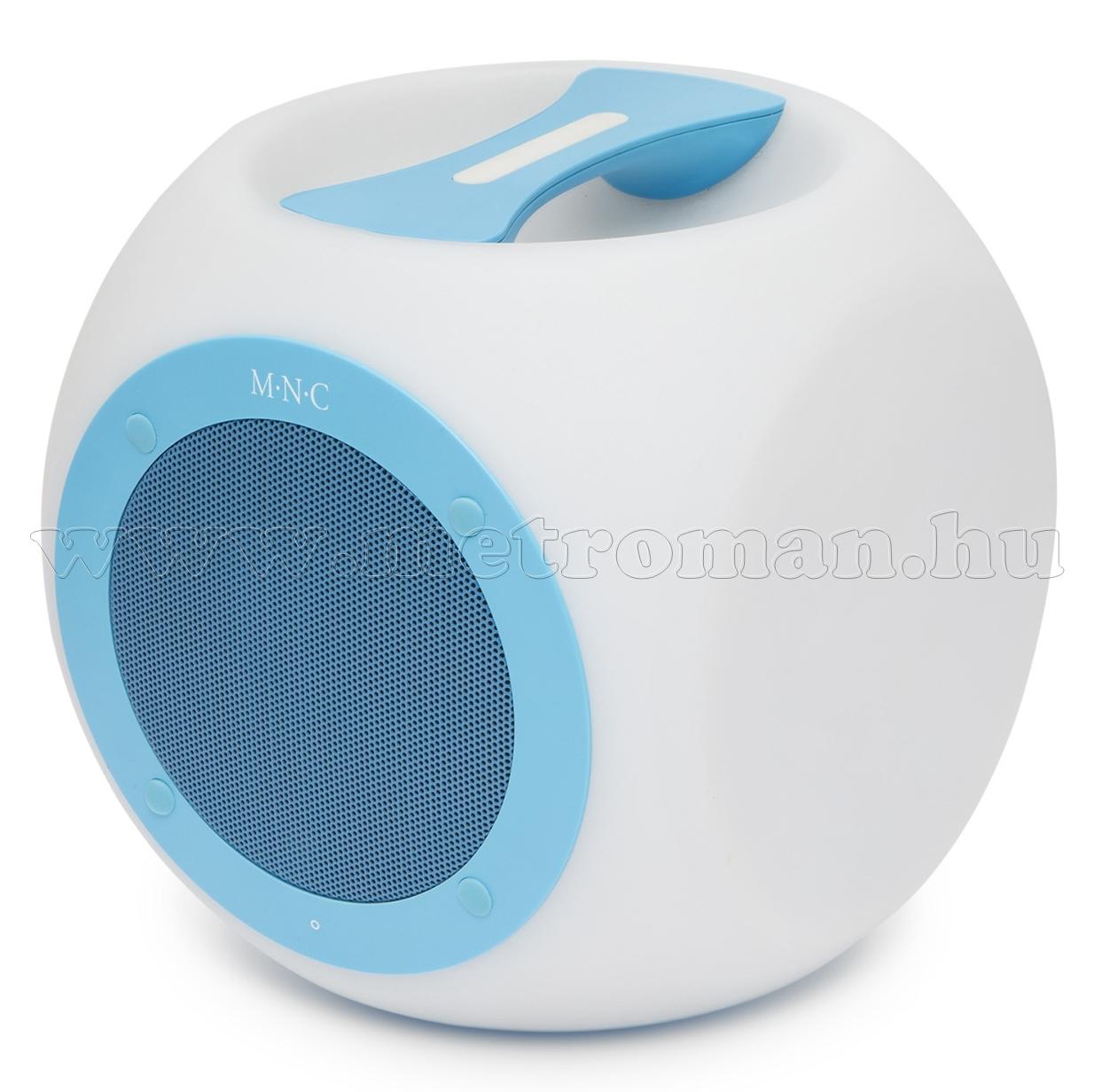 37951BL Hordozható, vízálló, színváltós Bluetooth hangszóró