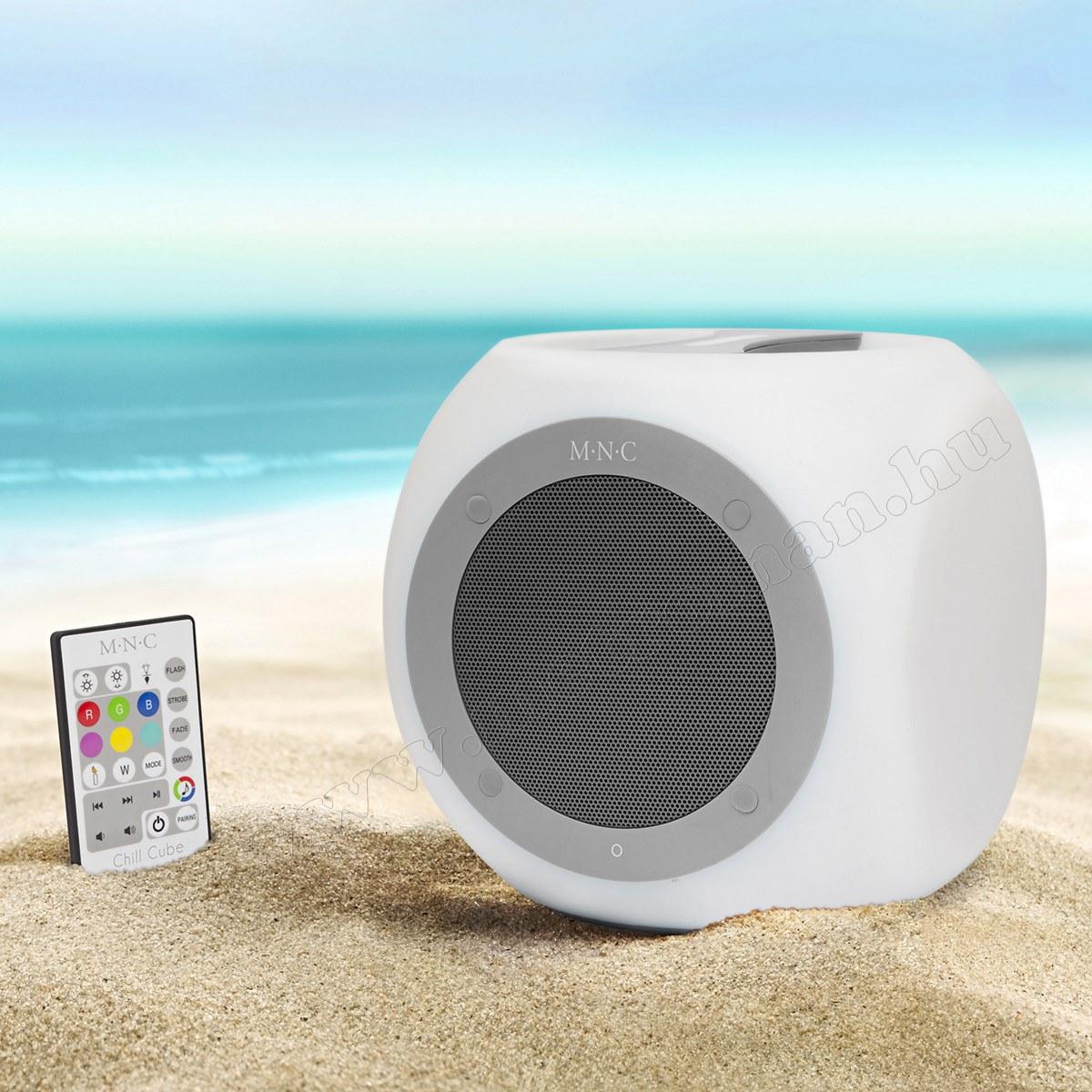 37951GY Hordozható, vízálló, színváltós Bluetooth hangszóró