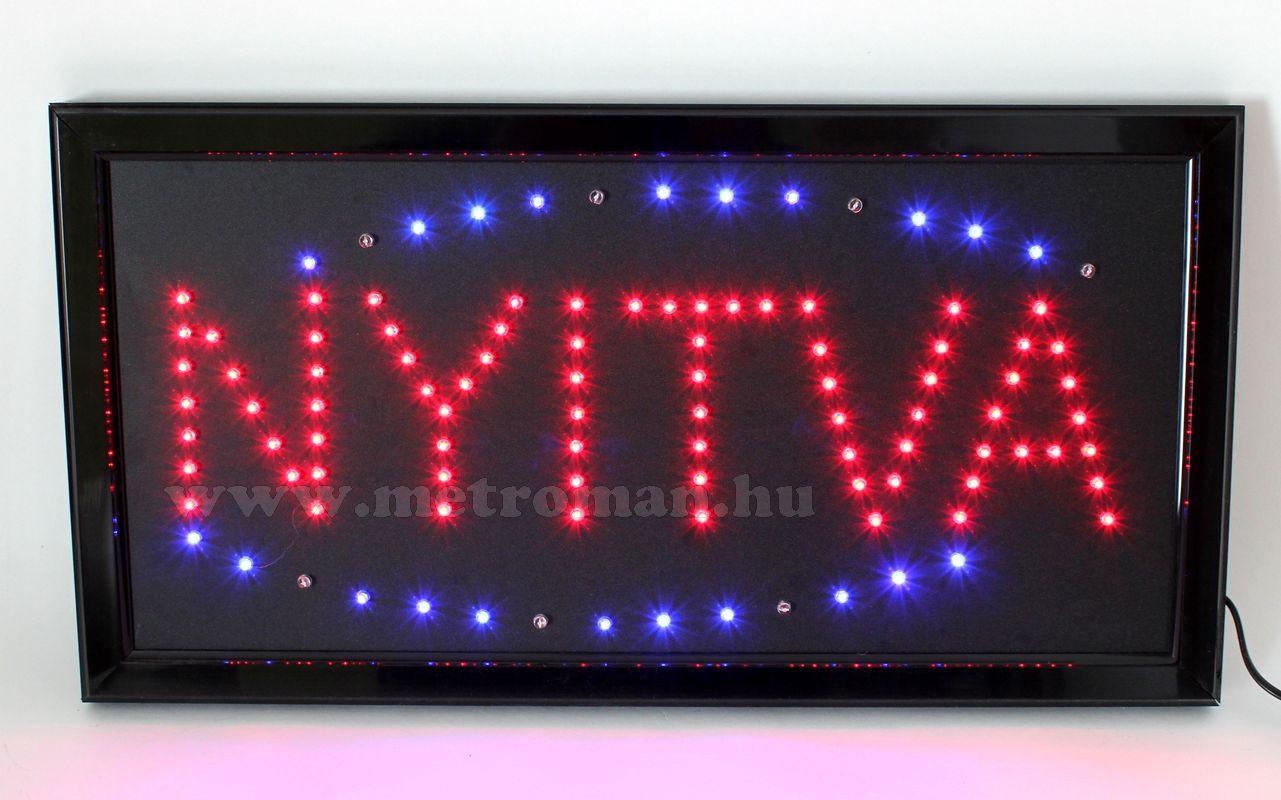 LED világító reklám tábla, NYITVA LDH-008