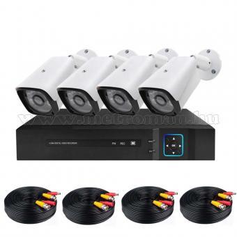 4 kamerás AHD DVR biztonsági megfigyelő kamera rendszer MM1219-FHD