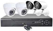 4 kamerás AHD DVR biztonsági megfigyelő kamera rendszer HD7004