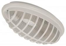 Mennyezeti lámpa IP54, ovális, rácsos, fehér színben 400.000.111