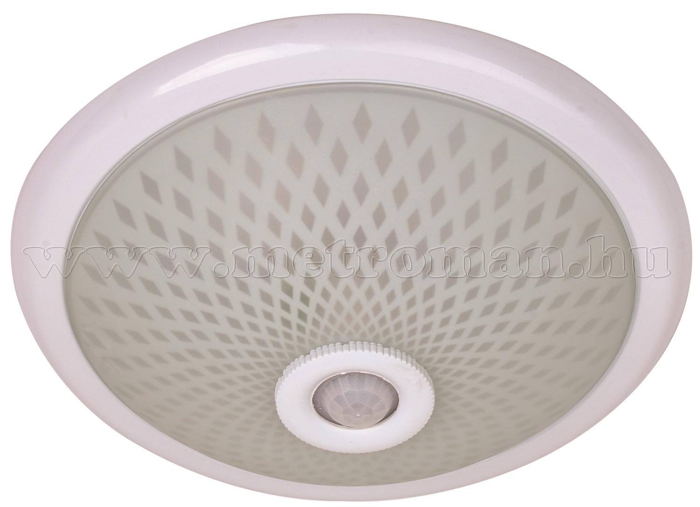 Mennyezeti lámpa fém és üveg, mozgásérzékelővel 400.001.112