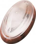 Mennyezeti lámpa, ovális, műanyag, dió színben 400.013.107/1
