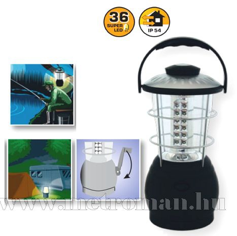 LED kempinglámpa, dinamós , 36 LED-del, CL 36L