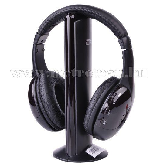 Vezeték nélküli fejhallgató és mikrofon, Intex IT-HP904FM