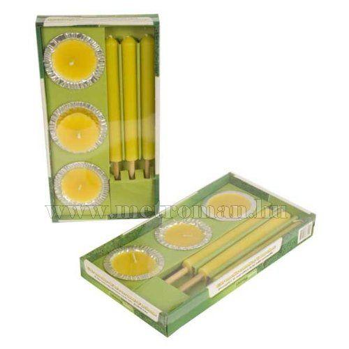Szúnyogriasztó gyertya, 6 db-os, citronella